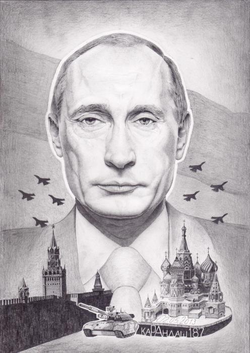 Vladimir Putin by Karandash